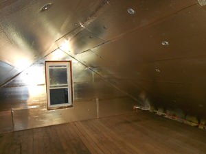 A Myrtle Beach attic with SuperAttic installed.