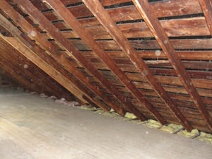A South Carolina & North Carolina attic before installation of SuperAttic